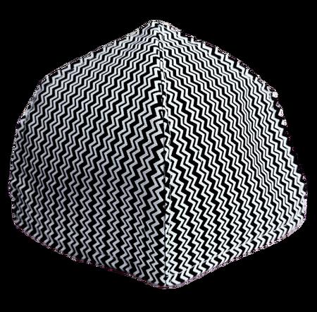 Maseczka Ochronna profilowana wzór mini zygzak (1)