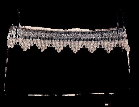 Maseczka Ochronna kolor czarny ze srebrną koronką (1)