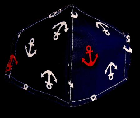 Maseczka Ochronna profilowana DZIECIĘCA wzór kotwice (1)