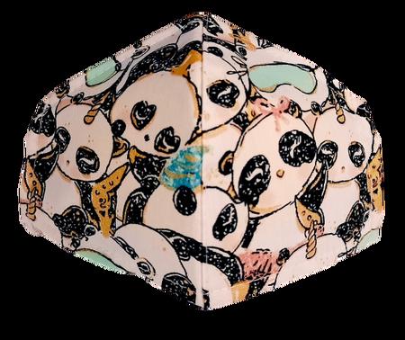 Maseczka Ochronna profilowana wzór pandy (1)
