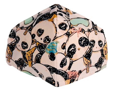 Maseczka Ochronna profilowana DZIECIĘCA wzór pandy (1)