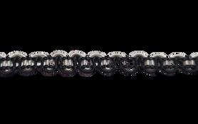Taśma ozdobna czarno - biała 0,5 cm