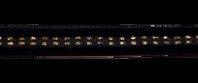 Taśma ozdobna aksamitna czarno - złota 1 cm