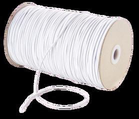 Guma okrągła 2mm (idealna do maseczek) kolor biały