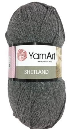 YarnArt Shetland 531 kolor ciemny szary (1)