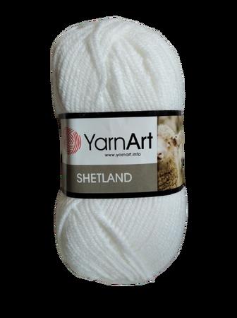 YarnArt Shetland 501 kolor biały (1)