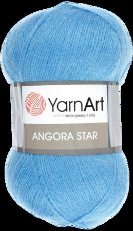 Yarn Art Angora Star kolor niebieski 600 (1)