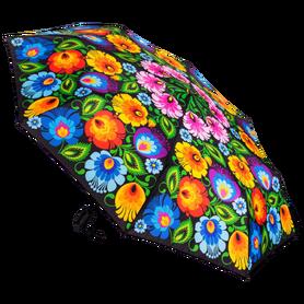 Parasolka automatyczna mała - łowicka czarna