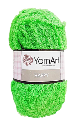 YarnArt Happy kolor zielony neon 786 (1)