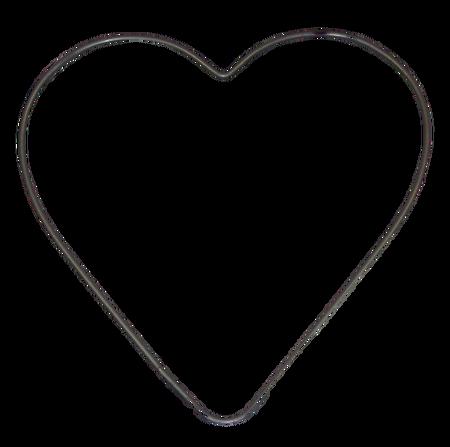 Obręcz metalowa SERCE 20 cm (1)