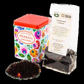 Herbata czarna z wiśniami w puszce - łowicka biała