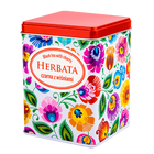 Herbata czarna z wiśniami w puszce - łowicka biała (2)