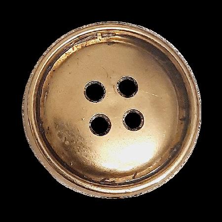 Guzik Ø 18 mm kolor złoty przecierany (1)