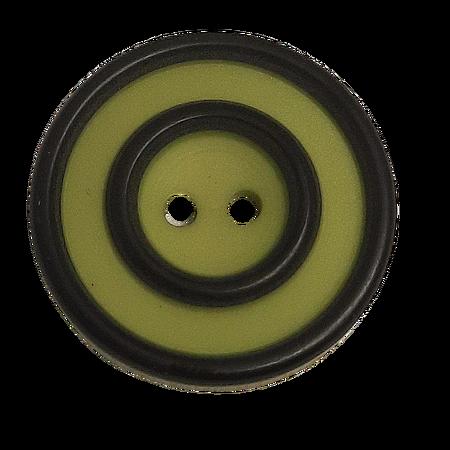 Guzik Ø 15 mm kolor limonka z czarnym (1)