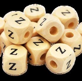Koralik drewniany literka Z