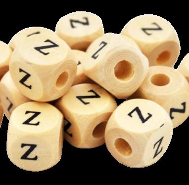 Koralik drewniany literka Z (1)