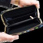 Duży portfel damski w łowickie wzory ludowe – czarny (3)