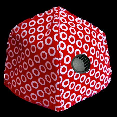 Maseczka Ochronna profilowana wzór koła z zaworkiem filtrującym (1)