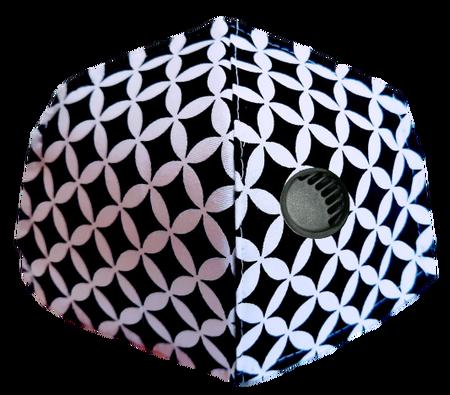 Maseczka Ochronna profilowana wzór mini maroko z zaworkiem filtrującym (1)