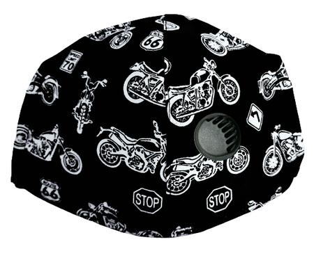Maseczka Ochronna profilowana wzór motocykle z zaworkiem filtrującym (1)