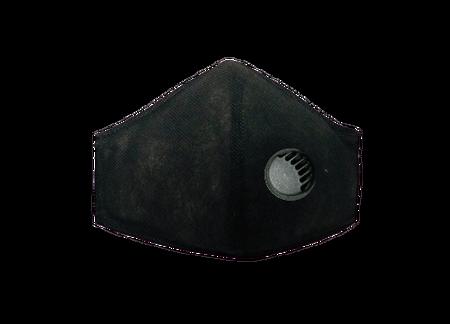 Maseczka Ochronna profilowana kolor czarny z zaworkiem filtrującym (1)