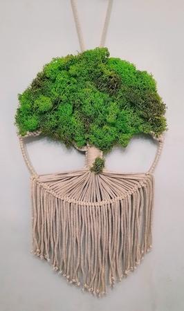 Makrama Drzewo Życia z mchem chrobotkiem (1)