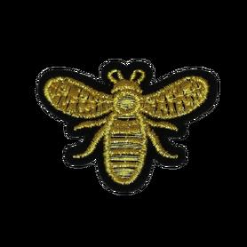 Naprasowanka / aplikacja TERMO 5 x 3,8 cm pszczoła złota