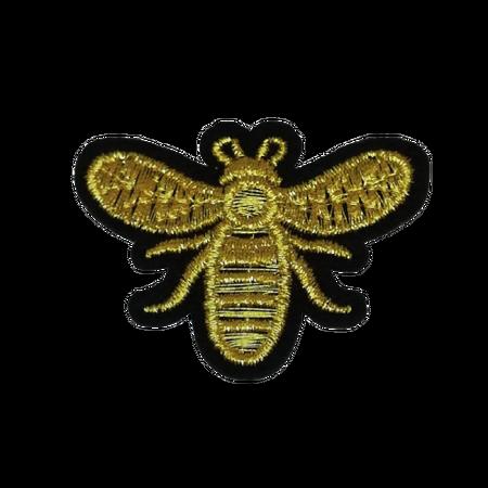 Naprasowanka / aplikacja TERMO 5 x 3,8 cm pszczoła złota (1)