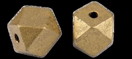 Koraliki drewniane lakierowane złote w kształcie diamentu 12x16  mm  (1)