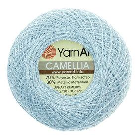 YarnArt Camellia kolor niebieski/srebrny 417