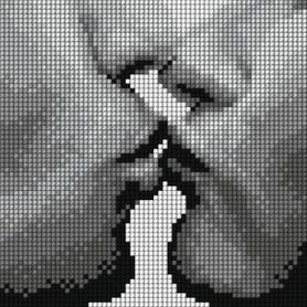 Kanwa z nadrukiem 15 x 15 cm POCAŁUNEK