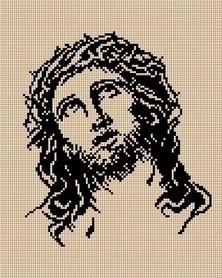 Kanwa z nadrukiem 24 x 30 cm JEZUS