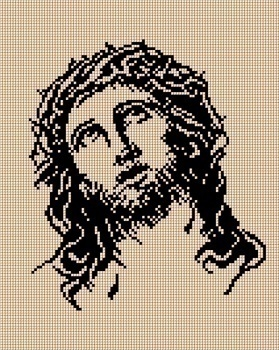 Kanwa z nadrukiem 24 x 30 cm JEZUS (1)
