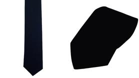 Krawat 100% bawełna kolor czarny