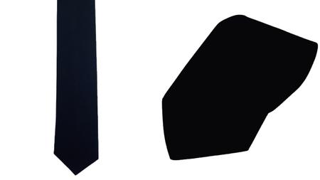 Krawat 100% bawełna kolor czarny (1)