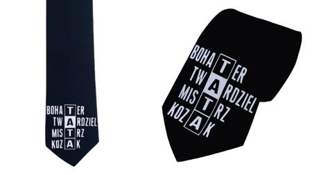 Krawat 100% bawełna z nadrukiem dla taty  (1)