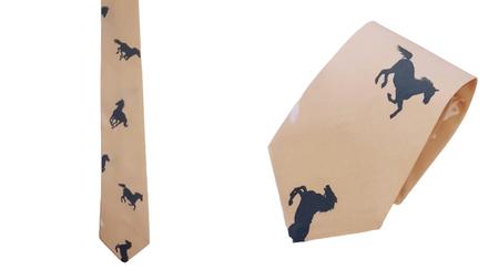 Krawat 100% bawełna wzór konie (1)