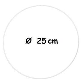 Biała metalowa obręcz Ø 25 cm