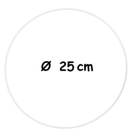 Biała metalowa obręcz Ø 25 cm  (1)