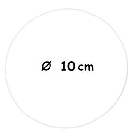 Biała metalowa obręcz Ø 10 cm