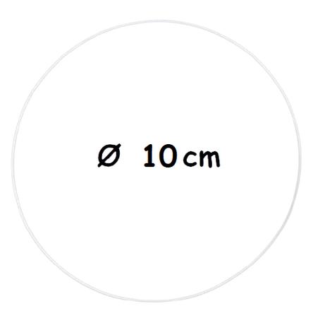 Biała metalowa obręcz Ø 10 cm  (1)