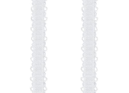 Ramiączka do biustonosza z ażurem (RB-117) BIAŁE 10 MM (1)