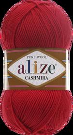 Alize Cashmira kolor czerwony 56