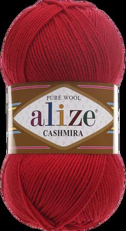 Alize Cashmira kolor czerwony 56 (1)