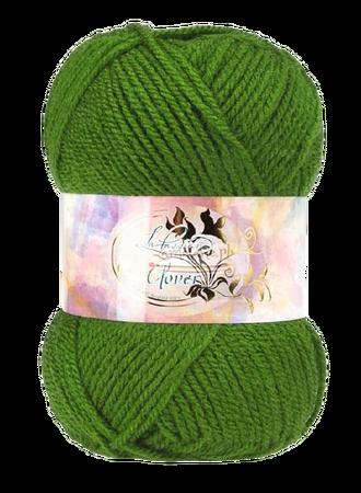 Clover 50g kolor zielony 027 (1)