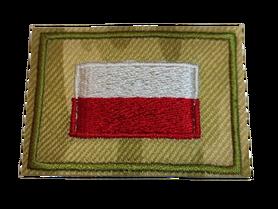 Naprasowanka / aplikacja TERMO 5,5 x 4,5 cm FLAGA na moro