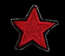 Naprasowanka / aplikacja TERMO 3 x 3 cm GWIAZDKA czerwona