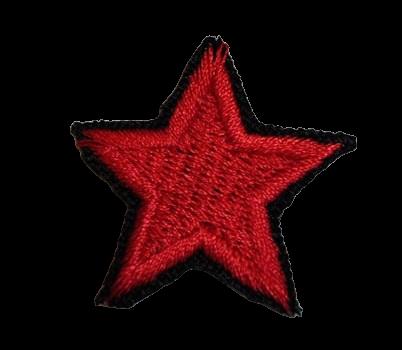 Naprasowanka / aplikacja TERMO 3 x 3 cm GWIAZDKA czerwona (1)