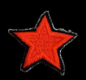 Naprasowanka / aplikacja TERMO 3 x 3 cm GWIAZDKA neon pomarańczowy