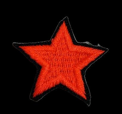Naprasowanka / aplikacja TERMO 3 x 3 cm GWIAZDKA neon pomarańczowy (1)